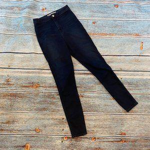 ASOS Dark Wash High Rise Skinny Stretch Jeans 28